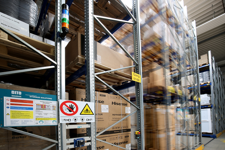 Hochregal, Logistik, Adalbert Zajadacz GmbH Neu Wulmstorf, Unternehmensfotografie Freye