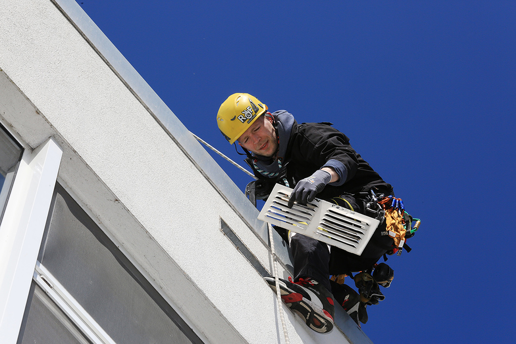 Industriekletterer, Höhenkletterer, Manfred Freye Hamburg, Fotograf
